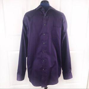 Joseph Abboud Slim Fit Tall 17 36/37 purple shirt